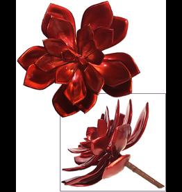 Darice Faux Succulents Echeveria Red Metallic 6 inch