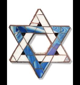 Glistening Glass Mosaics Jewish Star of David 6x5 inches