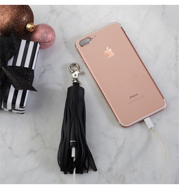 Twos Company Lifesaver Leather Tassel Powerbank Backup Phone Charger