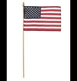 Valley Forge Hand Held U.S. American Flag 8x12 on 2ft Wood Dowel