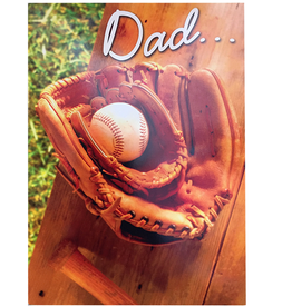 Avanti Fathers Day Card Dad and Son Baseball Gloves
