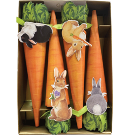 Caspari Celebration Crackers 8pk Easter Bunnies And Carrots