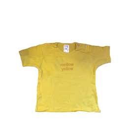 Paint Rags Embroidered Baby T-Shirt - Mellow Yellow 12-18 Month