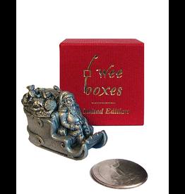 Wee Boxes Santa w Sleigh Pewter Trinket Box Limited Edition w COA