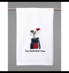 Peking Handicraft The Christmas Club Golfers Kitchen Towel 16x25