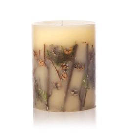 Rosy Rings Forest Medium Round Botanical Candle Pillar 6.5Hx5D