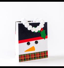 Papyrus Christmas Gift Bag Medium 7x9x4 Felt Snowman