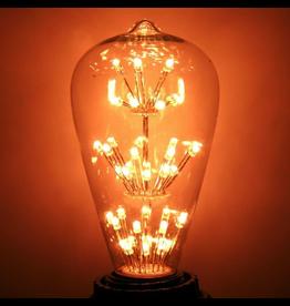 Cleveland Vintage Lighting Vintage Light Bulb Edison Style w 47 LEDs 6-Tier 1.3W 120V E26 Base