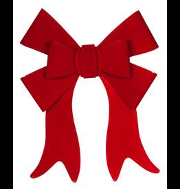 Darice Christmas Bow Red Velvet PVC Bow 19x22 inch