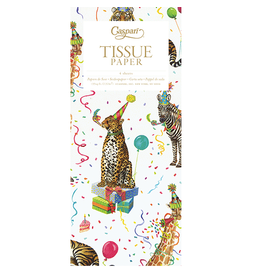 Caspari Gift Tissue Paper 4 Sheets - Party Animals