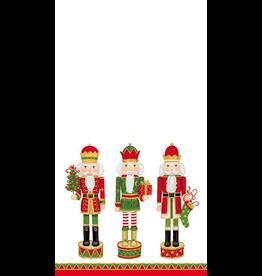 Caspari Christmas Paper Guest Towel Napkins 15pk Nutcracker Parade