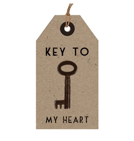 East of India Vintage Key w Tag in Gift Box 149 Key To My Heart