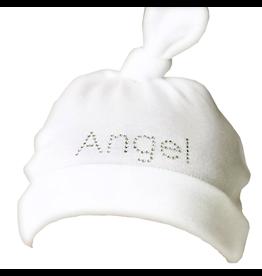 Mama and Bambino Mama and Bambino Infant Baby Hat with Rhinestones White Angel