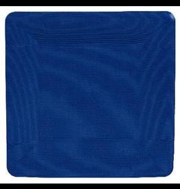 Caspari Square Paper Salad Dessert Plates 8pk Grosgrain Marine Blue