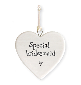 East of India Porcelain Heart Ornament 4179 Special Bridesmaid