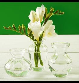 Twos Company Fluted Vase Trio Mini Glass Vases Bud Flower Vases Set 3