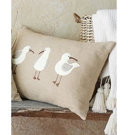 Mud Pie Shore Birds Lumbar Pillow 16x24 Inch