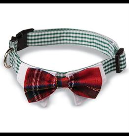 Mud Pie Plaid Tie Dog Collars-Bow Tie-Sm-Md Adjustable Snap Buckle