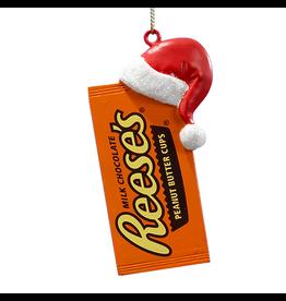 Kurt Adler Reeses Peanut Butter Cups W Santa Hat Christmas Ornament