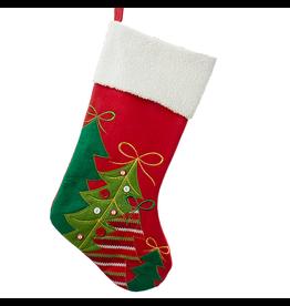 Kurt Adler Christmas Stocking w Christmas Trees  SG0133-TREES