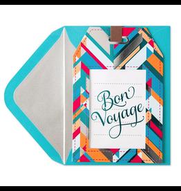 PAPYRUS® Bon Voyage Card Die-Cut Luggage Tag