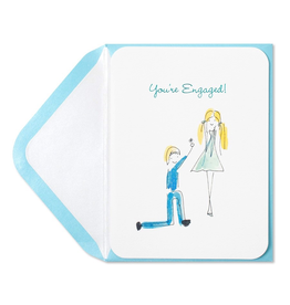 PAPYRUS® Engagement Card Whimsy Engaged Couple