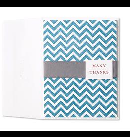 PAPYRUS® Thank You Card Chevron Stripes Letterpress