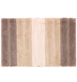Harman Nova Micorfiber Plush Bath Mat Rug 20x32 Taupe Stripes
