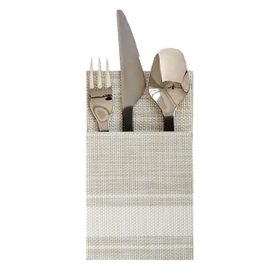 Harman Bistro Cutlery Holders Set of 2 Vinyl 4x7 White Stripes