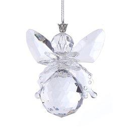 Kurt Adler Clear Acrylic Angel Ornament Ball Shape 3 Inch