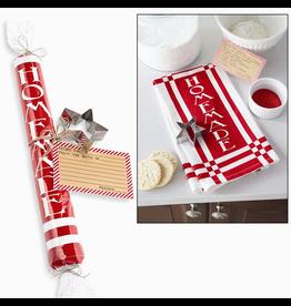Mud Pie Flour Sack Kitchen Towel Set w Cookie Cutter and Recipe Card