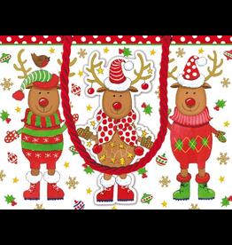 Caspari Christmas Gift Bag Sweater Party SM