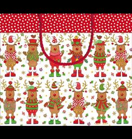 Caspari Christmas Gift Bag 11x4x10 - Sweater Party