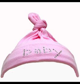 Mama and Bambino Mama and Bambino Infant Baby Hat with Rhinestones Pink Baby