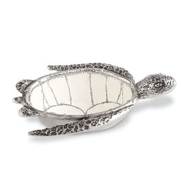Mud Pie Sea Turtle Dip Cup 6x9 Inch Metal And Enamel