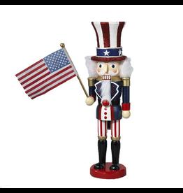 Kurt Adler Uncle Sam Nutcracker Patriotic 15 Inch Hollywood Nutcracker