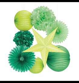 Darice Irish St Patricks Green Paper Party Decorations Kit 8 Pc