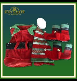 Kurt Adler Santas Elf Christmas Dog Costume - Ex-Small