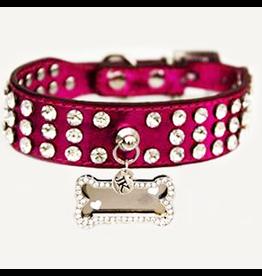Jacqueline Kent Jewelry Rhinestone Dog Collar Pink Small 15in by Jacqueline Kent Jewelry
