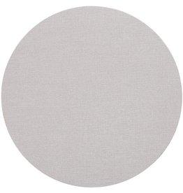 Caspari Classic Canvas Round Felt Backed Placemat - Linen