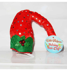 DM Merchandising Mini Santa Elf Christmas Hat Hair Clip - D