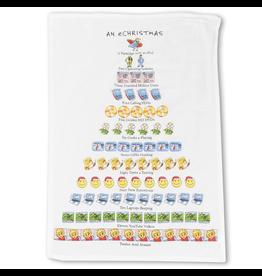 Peking Handicraft Holiday Flour Sack Kitchen Tea Towel An eChristmas 12 Days Towel