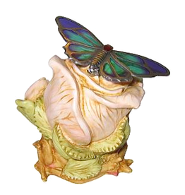Isle Of Gramarye English Rose w Butterfly Pin by Robert Glover
