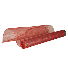 Gallerie II Abaca Mesh 10 Yard 18 Inch Wide Red Green Stripe GAR71043
