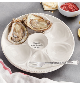 Mud Pie Oyster Platter Set Shuck The Front Door World Is Your Oyster