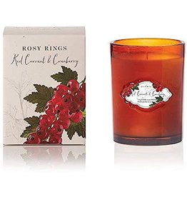 Rosy Rings Signature Glass Candle Red Currant n Cranberry 12oz
