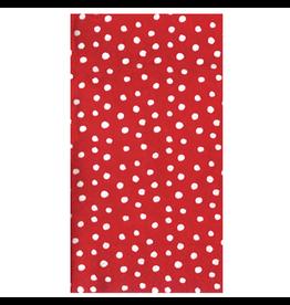 Caspari Paper Guest Towel Napkins 15pk Small Dots Red