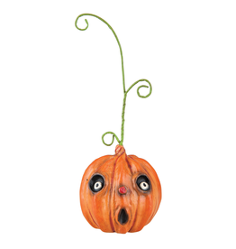 Gallerie II Joe Spencer Joe Spencer Halloween Pumpkin Head Ornament 3.25 Inch