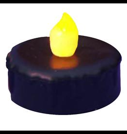 Kurt Adler LED Black Tea Light Battery Operated Flickering Candle