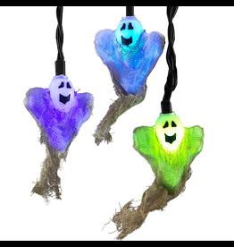 Kurt Adler Halloween Lights Set 10L Color Changing Ghost Lights